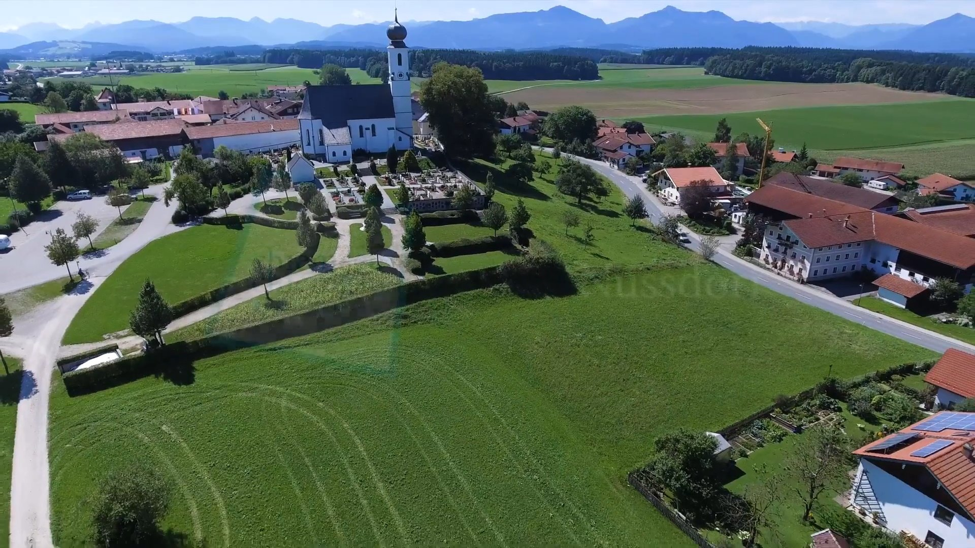 Nussdorf Chiemsee-Chiemgau Drohnenaufnahme