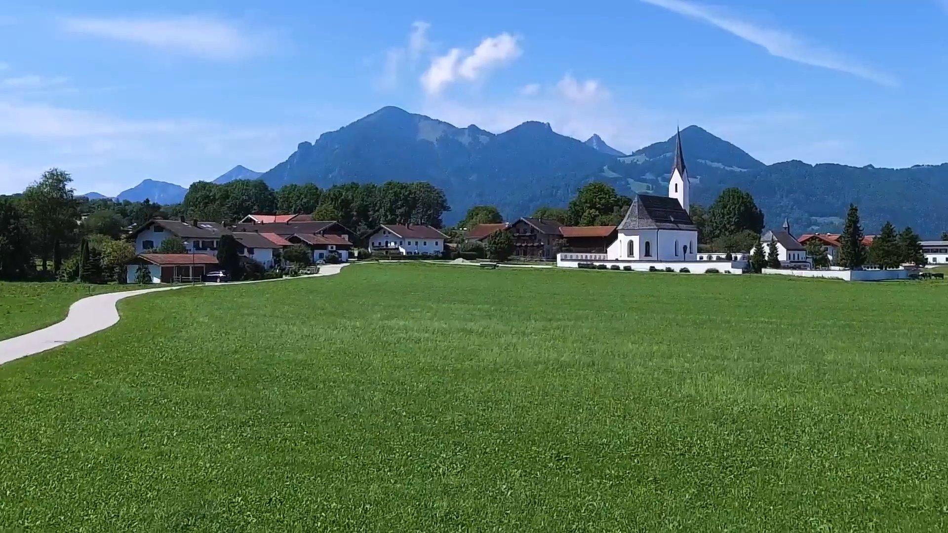 Staudach-Egerndach Chiemsee-Chiemgau Drohnenaufnahme