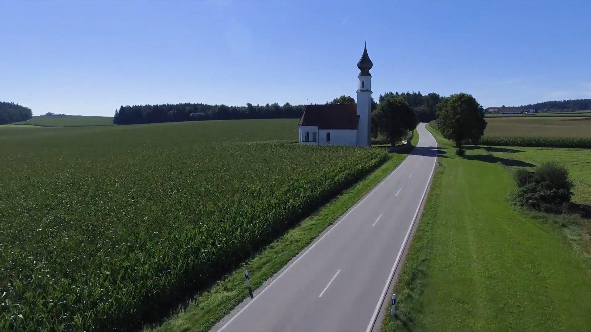 Schnaitsee Chiemsee-Chiemgau Drohnenaufnahme