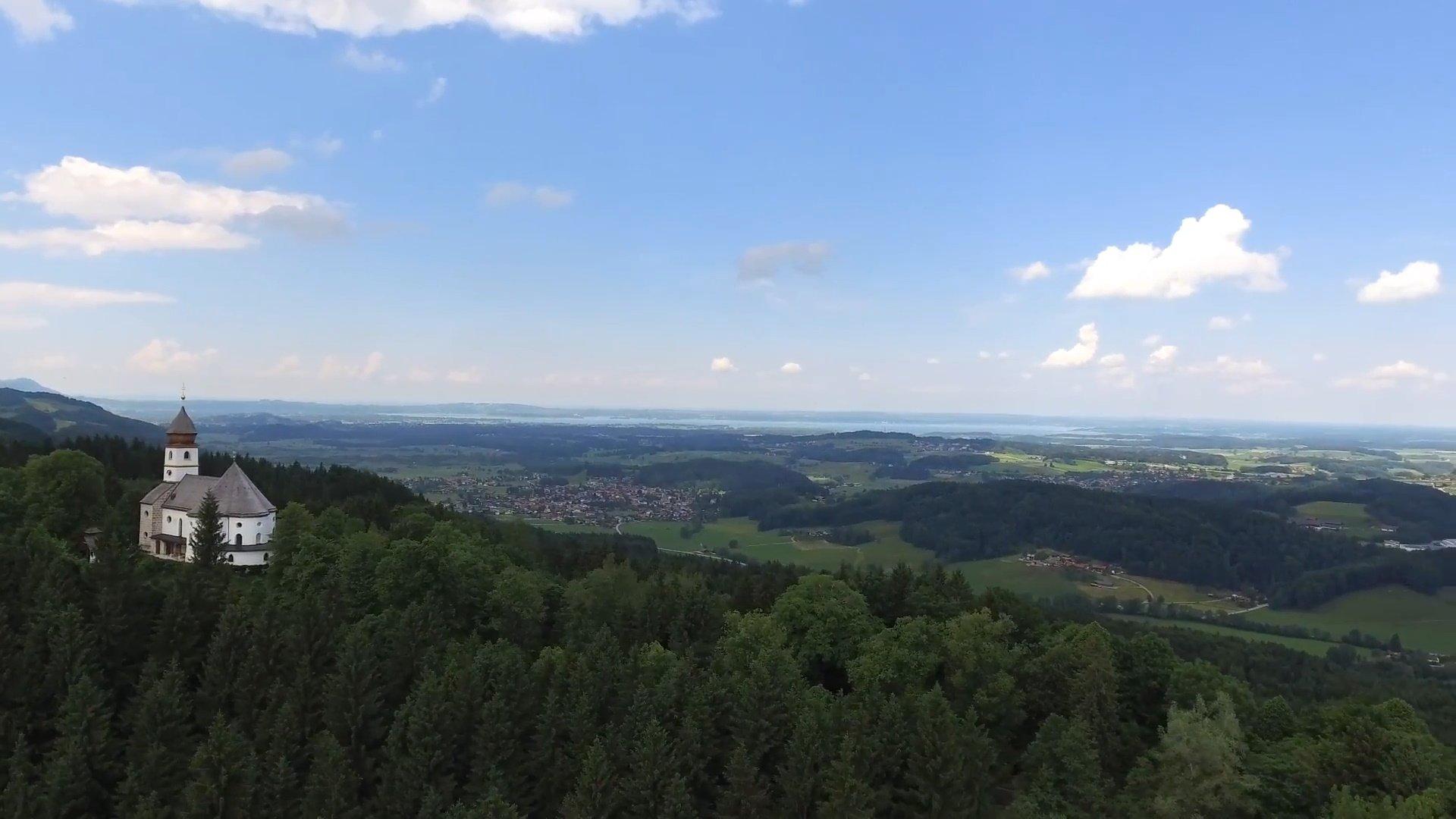 Siegsdorf Chiemsee-Chiemgau Drohnenaufnahme
