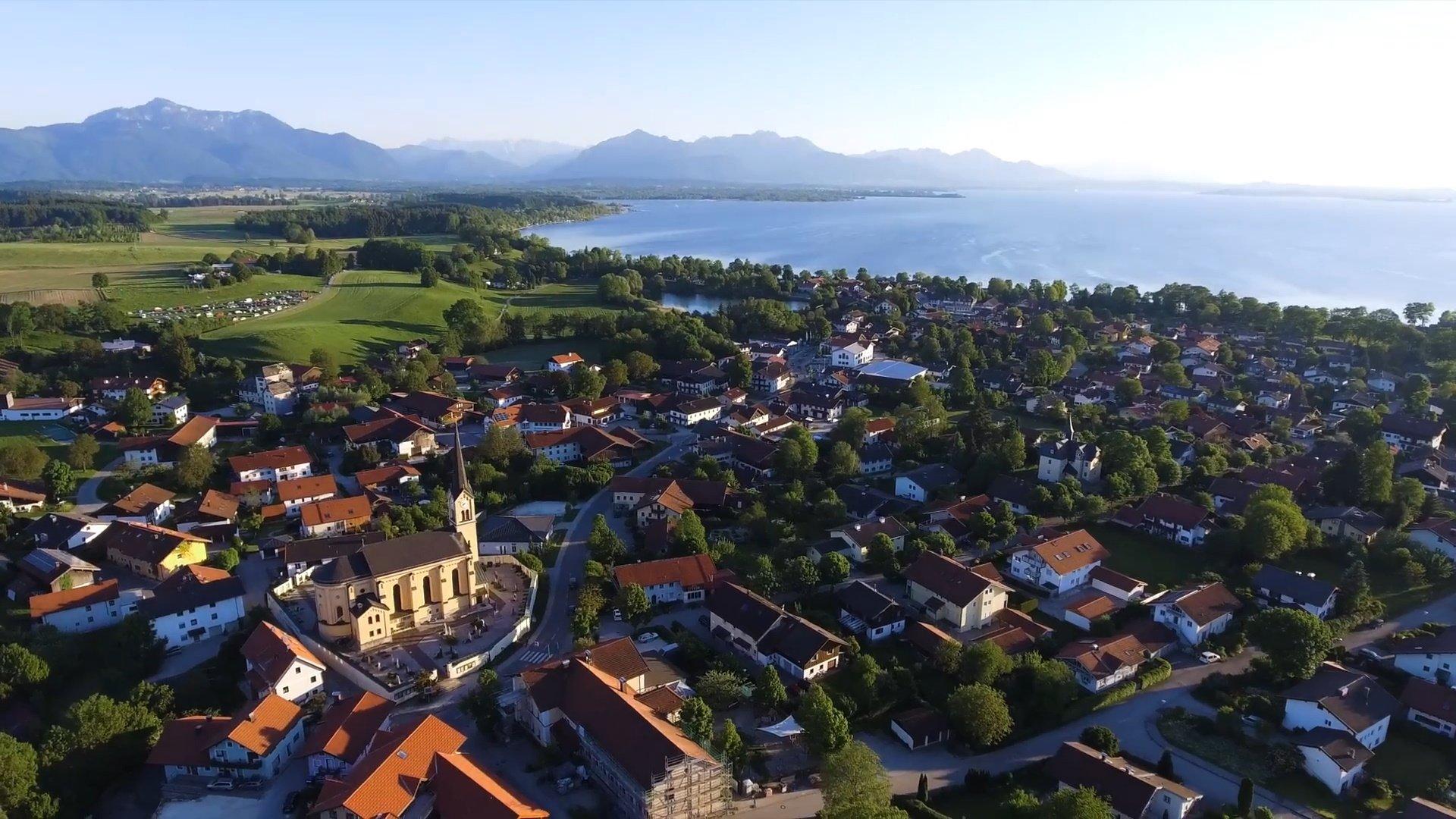 Chieming Chiemsee-Chiemgau Drohnenaufnahme