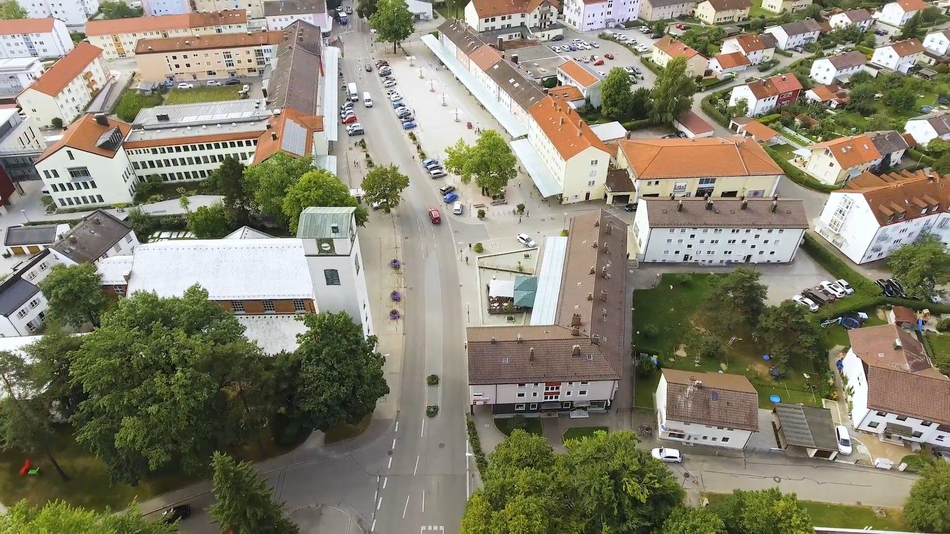 Traunreut - Chiemsee-Chiemgau Drohnenaufnahme