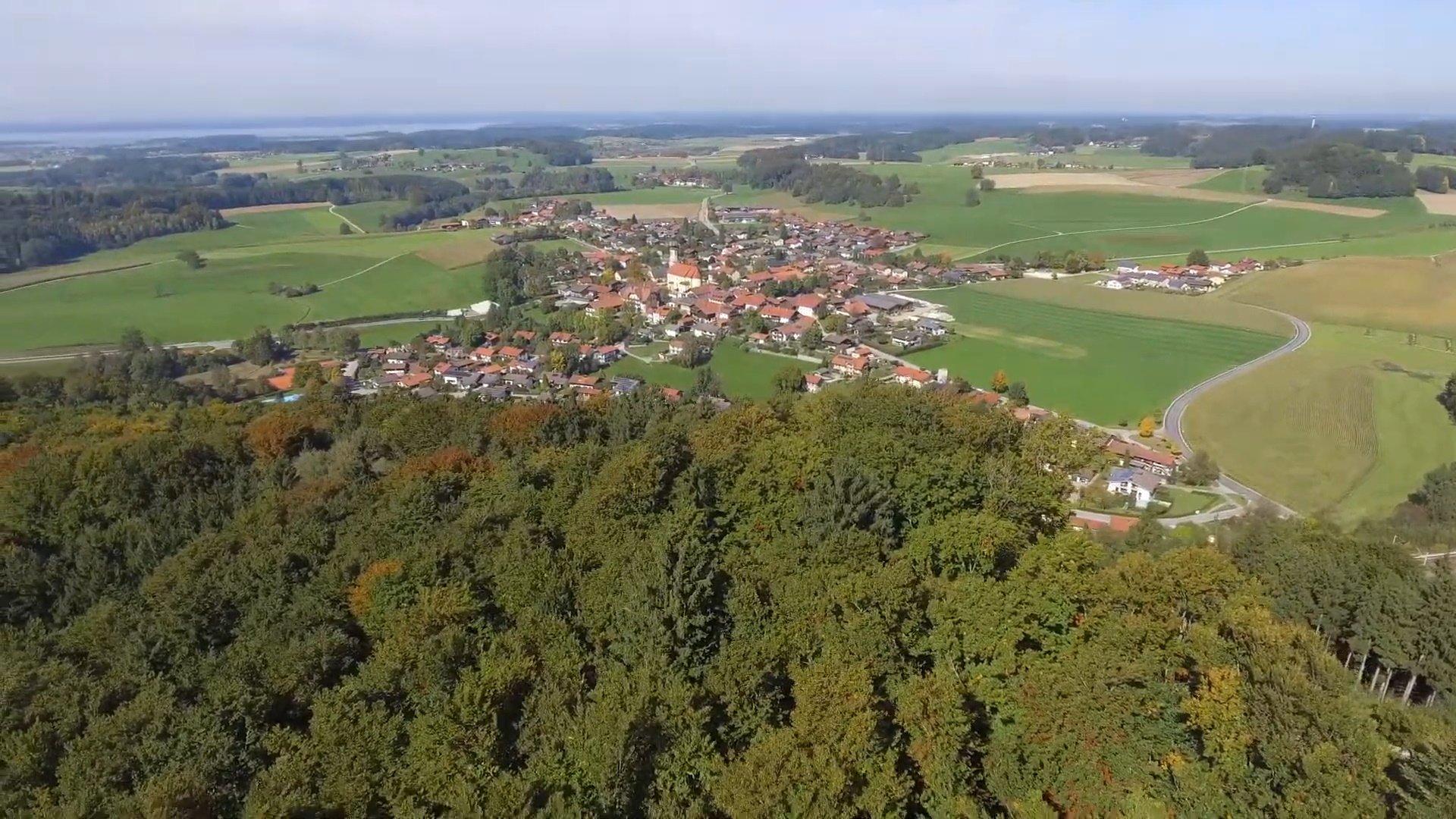 Vachendorf Chiemsee-Chiemgau Drohnenaufnahme