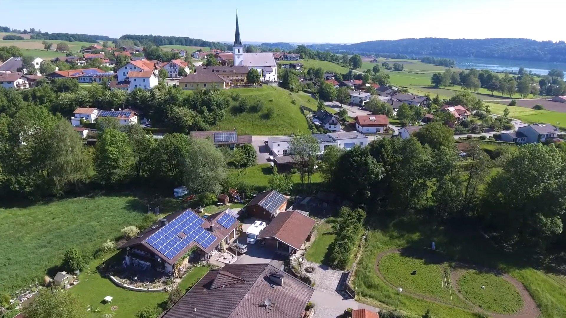 Taching Chiemsee-Chiemgau Drohnenaufnahme