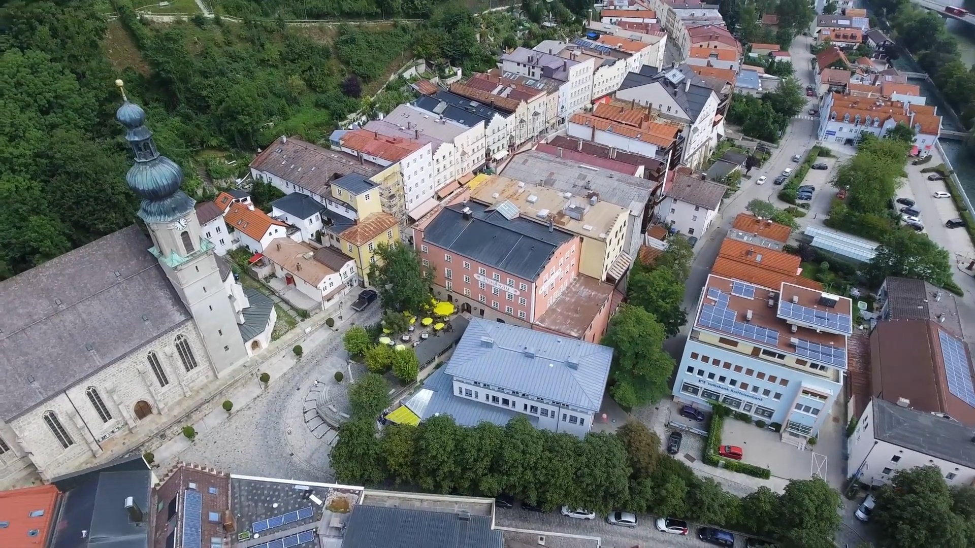 Trostberg Chiemsee-Chiemgau Drohnenaufnahme